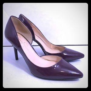 "Jessica Simpson Leather Stiletto ""Libby"" Heels"